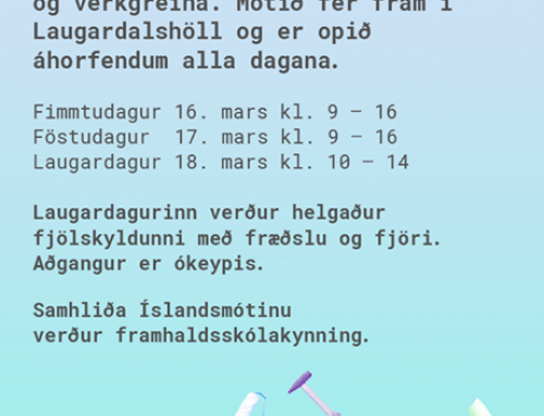 Framhaldskólakynning og Íslandsmót